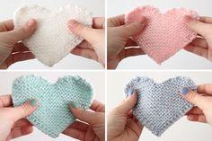Coeurs en tricot