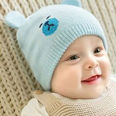 4485dbee229 Baby Toddler Girls Boys Warm Hat Winter Beanie Hooded Scarf Earflap Knitted  Cap  fashion