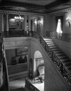 Main Staircase and Second Floor Landing. The Frick Residence, New York, 1927.