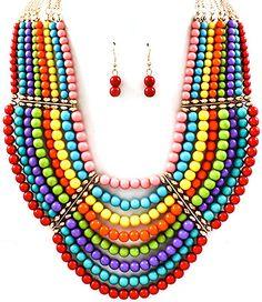 Rainbow Multi-Strand Statement Jewellery