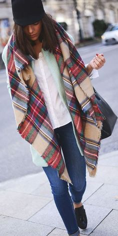 Women's Blanket Oversized Tartan Scarf Wrap Shawl Plaid Cozy Checked Pattern. Soft, Fashionable and Stylish with Tartan pattern.  It can be worn in many ways; over your coat, sweater or suit in winter or spring. You could also use it as a comfortable, small blanket. You can buy yours today with free shipping.