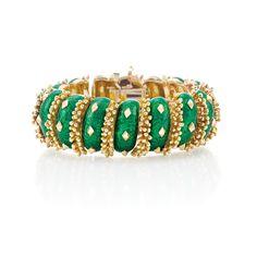 David Webb enamel bracelet