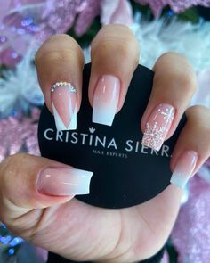 French Tip Acrylic Nails, Acrylic Nails Coffin Short, Square Acrylic Nails, Best Acrylic Nails, Lace Nail Art, Lace Nails, Chic Nails, Trendy Nails, Dream Nails