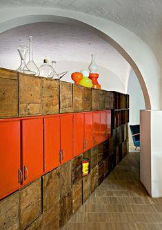 Orange and wood