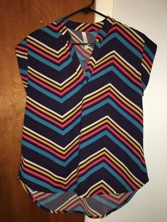 My Chevron Spring Blouse by ! Size 8 / M, Blouses for $$19.99. Check it out: http://www.vinted.com/womens-clothing/blouses/20017212-chevron-spring-blouse.