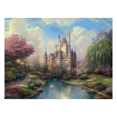 Cinderella Castle Wallpaper Murals Designs Best Wall Murals ❤ liked on Polyvore
