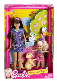 Barbie Sisters Skipper and Chelsea Doll 2-Pack TrainTaffy Playset NEW IN BOX
