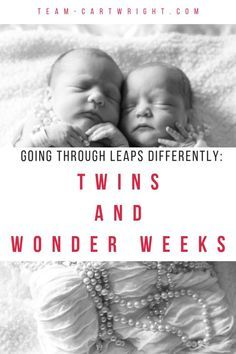 Wonder Weeks and Twins. Why do twins hit leaps at different times? Learn what you need to know for your twins. Breastfeeding Twins, Expecting Twins, Newborn Twins, Triplets, Twin Mom, Twin Babies, Baby Hacks, Baby Tips, Twin Tips