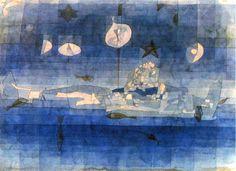 Paul Klee, Versunkene Insel on, 1923