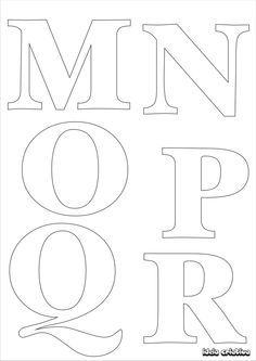 Molde de letras para imprimir alfabeto completo fonte vazada | Ideia Criativa - Gi Barbosa Educação Infantil
