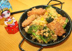 Ruokasurffausta: Korealaista paistettua riisiä possulla