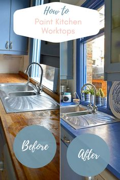 Would you like a new kitchen but can't afford one?  How about giving your kitchen an affordable update with painted worktops, using floor paint.