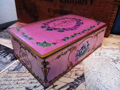 Vintage tin candy box