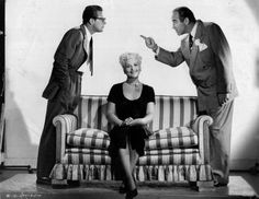 William Holden, Judy Holliday and Broderick Crawford in Born Yesterday (1950)