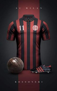 "See 19 photos and 2 tips from 258 visitors to AC Milan. ""AC Milan: the Most titled Team in the World ! Milan Football, Retro Football, World Football, Vintage Football, Soccer Kits, Football Kits, Football Jerseys, Ac Milan, American Football"