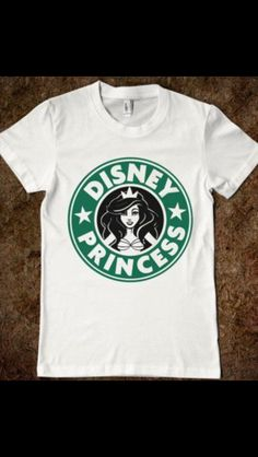 This is my life all tied together in one shirt #disney #starbucks #princess