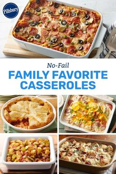 Crazy for casseroles? Us, too! From crescent-topped crowd-pleasers to our favorite takes on pizza, these recipes prove there's no wrong way to make a casserole.