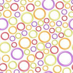 Stoffdesign:Große und kleine Kreise auf weißem Hintergrund