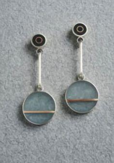 Two Dot Earrings ~ Eileen Sutton