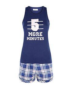 Teens Blue 5 More Minutes Pyjama Set Cute Pajama Sets, Cute Pajamas, Girls Pajamas, Duvet Day, Pyjamas, Pjs, Lazy Day Outfits, Tumblr Girls, Nightwear
