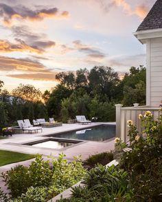 Backyard Furniture, Backyard Patio, Backyard Landscaping, Backyard Ideas, Outdoor Spaces, Outdoor Living, House Yard, Modern Pools, Outdoor Entertaining