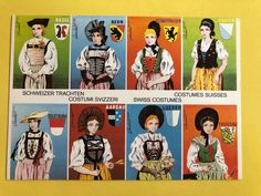 THE MOST BEAUTIFUL COSTUMES OF THE SWISS CANTONS POSTCARD SWITZERLAND | eBay