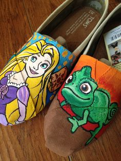 Tangled Toms Shoes. $200.00, via Etsy.