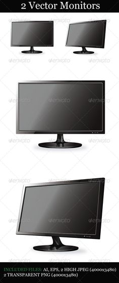 VECTOR DOWNLOAD (.ai, .psd) :: http://jquery-css.de/pinterest-itmid-1004576266i.html ... 2 Vector Monitors ...  black, clean, computer, display, element, face, fully editable, gloss, monitor, monitors, pc, profile, screen, template, tv, vector, web, website  ... Vectors Graphics Design Illustration Isolated Vector Templates Textures Stock Business Realistic eCommerce Wordpress Infographics Element Print Webdesign ... DOWNLOAD :: http://jquery-css.de/pinterest-itmid-1004576266i.html