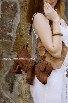 Сумка детская Такса - коричневый,однотонный,сумка,сумка ручной работы
