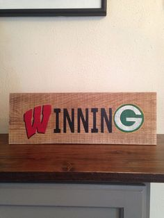 Wisconsin Winning Sign Salvaged Wood Winning by TheRustedMonkey Diy Signs, Wood Signs, State Crafts, Packers Football, Football Decor, Green Bay Packers Fans, Sammy, Sport Craft, Wisconsin Badgers