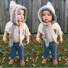 Children's Pixie Hat, Oversized Knit Hat, Elf Hat, Winter Hats, Chunky Knit Hats ,Kids Fashion