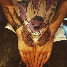 #blackandgrey #wings #tattoo