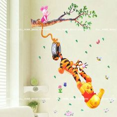 Winnie the Pooh Girl Nursery | Removable Xtra Large WINNIE THE POOH Wall Stickers Nursery Girls Boys ...