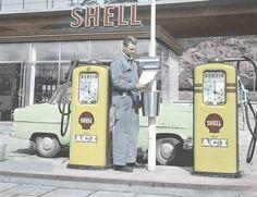 Shell Oil Company, Shell Station, Fuel Truck, Nostalgia, Old Gas Stations, Retro Futurism, Shells, Trucks, Ads