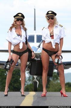 Sexy woman pilot