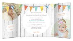 faire part mariage fanions multicolores Planet-cards #mariage #fairepart