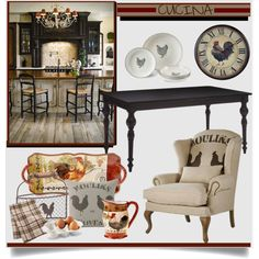 Gallo Cucina by brendariley-1 on Polyvore featuring polyvore interior interiors interior design home home decor interior decorating Soma Certified International Fitz and Floyd Crate and Barrel Juliska Sterling