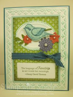 Stamp with Sandy: Language of Friendship In Color
