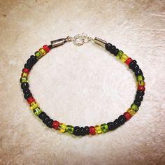 Rasta Beaded Bracelet on Etsy, $15.00