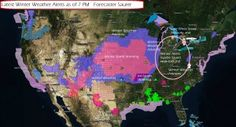 http://lightningweather.us/latest-weather-summary-with-david-saurer-220/    Winter Storm over the Plains and Midwest is causing a lot of travel headaches and disruptions of lives across the region.  Expecting more of the same overnight and through Friday with Severe Weather breaking out after 2 PM Central Time in North Central Texas and advancing East.  Ice Storm prevailing across Arkansas for tonight and causing a headache for travel.  KANSAS, STATE OF EMERGENCY IN EFFECT.
