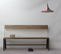Classic Bench [with back] from KONK! This is our Classic Bench, a hugely sturdy (and weighty) piece of furniture, designed for heavy and constant