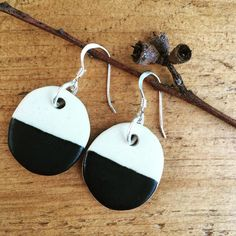 Mmm... milk and white chocolate buttons I mean earrings!  Perfect for Easter  #bespoke #etsy #nicolahartstudios #handmade #australiandesign #australianceramics #ceramics #ceramicearrings #ceramicjewelry #ceramicjewellery #pottery #stoneware #keramik #handcrafted #earrings #handmade #handmadejewelry