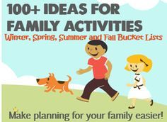 Need ideas for family activities? Check out seasonal bucket lists of activities for the family (including a summer list for families w/ babies & toddlers).