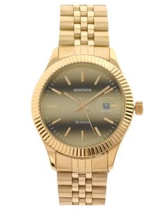 Sekonda Gold Bracelet Watch | $71 | gifts for the fashionista | womens watch | womens jewelry | womens style | womens fashio | wantering http://www.wantering.com/womens-clothing-item/sekonda-gold-bracelet-watch/aawJU/
