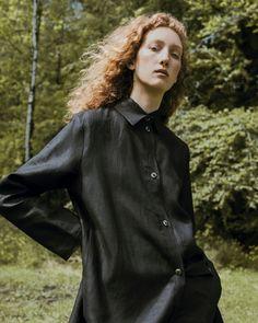 Irish linen shirt dress, made in Ireland, by 31 Chapel Lane