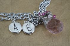 Personalized Bridesmaid Gift, Personalized Gift, Necklace, Initials, Monogram, Bridal Party Jewelry by ForestBeads, $1.00