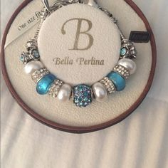 Authentic Bella Perlina bracelet Authentic Bella Perlina sparkly light blue and silver bracelet. Price firm Bella Perlina Jewelry Bracelets