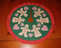 Gingerbread Tree Skirt for 3-4 Ft. Tree | Craftsy