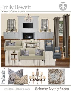 JILL SEIDNER | INTERIOR DESIGN: Concept Boards | Living Room ...