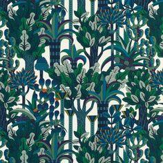 Luxurious Hermès Fabrics- Holly Phillips @ The English Room Motifs Textiles, Textile Patterns, Print Patterns, Fabric Wallpaper, Of Wallpaper, Pattern Wallpaper, Indian Garden, Grafik Design, Fabric Painting